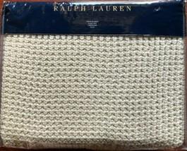 Ralph Lauren Alessandra Ashridge Knit Throw Blanket Sand NWT $355 - $199.99