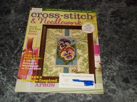 Cross Stitch & Needlework Magazine March 2014  vintage apron - $2.96