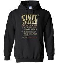 Civil Engineer Funny Dictionary Term Blend Hoodie - $32.99+