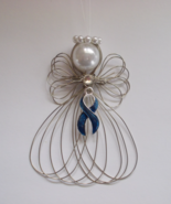 Colon Cancer Awareness Angel Ornament Handmade - $8.00