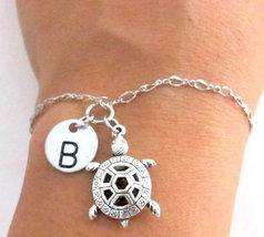 Turtle Bracelet Sea Turtle Jewelry, Turtle Charm Bracelet, Animal Bracelet - $10.50
