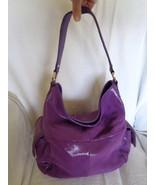 B. Makowsky Shoulder Bag Lombard Lizard Purple Handbag Purse A225994 - $179.00