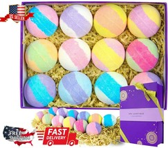 Bath Bombs 12 Assorted pack Gift Set Lux Natural Essential Oil Lush Spa ... - $18.98