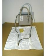 MICHAEL Michael Kors Women's Mercer Medium Tote Pearl Grey Messenger Lea... - $123.74