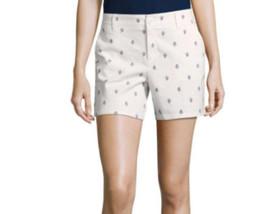 "Liz Claiborne Classic Shorts Size 18 Pristine Ivory 5"" Inseam NEW - $19.79"