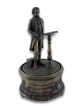 Resin Decorative Music Boxes Bronzed Music Box Symphony No. 9 Beethoven ... - $69.17