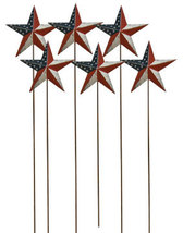6/Set, Americana Star Picks 4th of July Yard Art Summer Floral Baskets  - $22.00