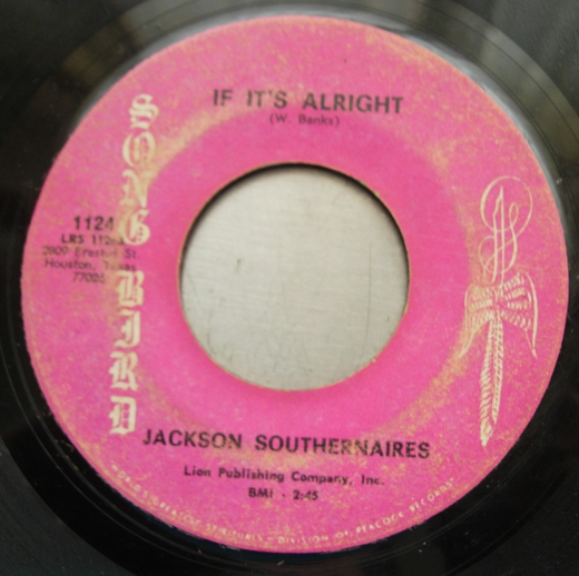 Jackson Southernaires - If It's Alright / Christian's Desire - Song Bird 1124