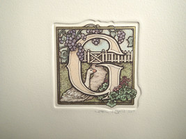 "Alice Morris Scott ALPHABET Letter ""G""  Great for Child's Room! Signed b... - $18.80"
