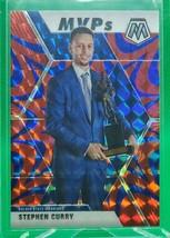 2019-20 Panini Mosaic Mosaic Blue Reactive #299 Stephen Curry MVP - $39.59