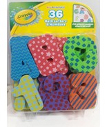 Crayola Bright Colors 36 Bath Letters  Numbers Eva Letter  Numbers Cling - $6.96