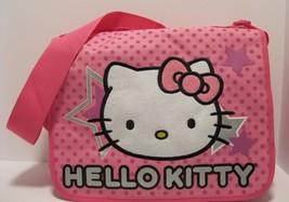 Purse Hello Kitty Pink Nylon Book Bag Tote Shoulder Crossboduy Soft NWT L116 - $18.81