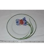"""Pier 1 Exclusive Porcelain Salad plate Floral 1 plate 7 1/2"""" Iris Flower - $18.69"""