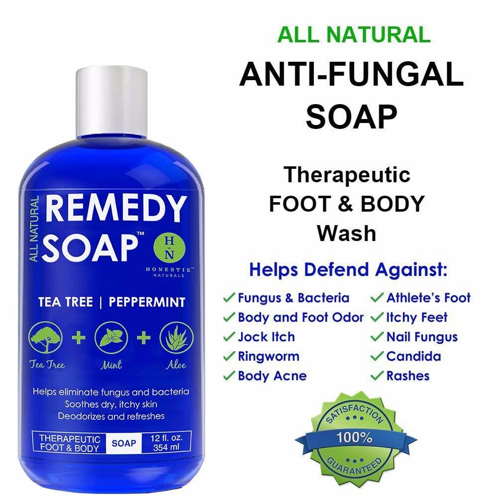 Remedy Antifungal Soap Helps Wash Away Body Odor Athlete's Foot Nail Fungus