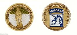 ARMY FORT BRAGG XVIII AIRBORNE CORPS CHALLENGE COIN - $16.24
