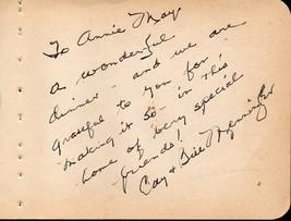 WILLIAM MENNINGER Autograph + wife Cat. Signed on album page. - $29.69