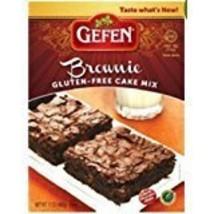 Gefen Brownie Cake Mix Gluten Free Kosher For Passover 14 oz. Pack of 6.