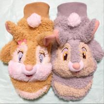 Tokyo Disney Resort limited Miss bunny & Thumper plush doll gloves Brown... - $62.37