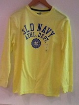 Old Navy Athletic Dept. Long Sleeve Neon Yellow shirt Youth Large 10-12 New - $15.95