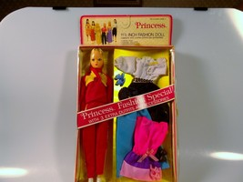 Vintage Princess Fashion Special Uneeda Doll 3 Extra Outfits Accessories New - $26.99