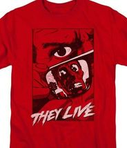 They Live t-shirt Roddy Piper Retro 80s horror sci-fi graphic red tee UNI968 image 3