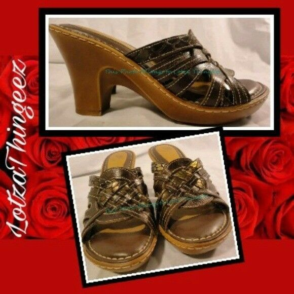 ExC Nurture Cusioned Wedge Heel Sandal Brown & Metallic Giraffe Print Myla 8