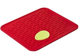 Red Extra-Large Silicone Dish-Drying Mat & High-Heat Resistant Trivet Wi... - $25.49