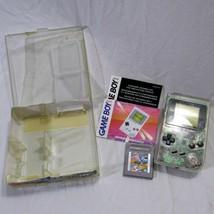Nintendo Game Boy DMG-01 Clear Original Retail Store Plastic Case Serial... - $249.99