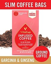 VitaCup Slim Blend Ground Coffee Bags 12oz with Garcinia Cambogia, Panax... - $25.93