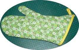 The Best Quilted Oven Mitts & Pot Handles on eBay!! Handmade Green/Flowers - $7.50