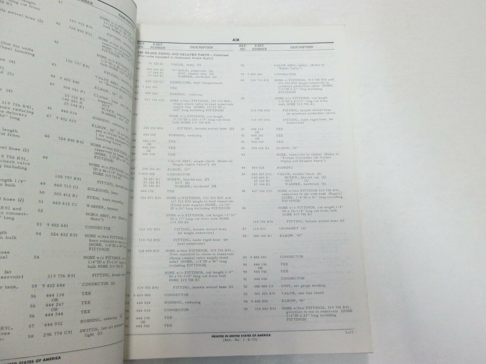 1973 International Modell 330 340 Pay Hauler Teile Katalog Manuell Neu Worn OEM
