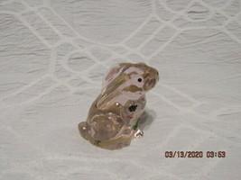 "FENTON ART GLASS 2002 PINK MINIATURE RABBIT FIGURINE ""HUGS FOR YOU"" - G.... - $19.99"