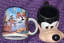 Vintage Disneyland Goofy Applause Plastic 3D Cups & Mickey Mouse Mug - $16.53