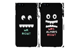 Mr Right and Mrs Always Right Matching Couple Phone Cases Gift for couples - $19.99