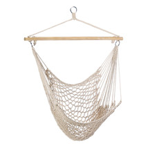 Rope Hammock, Large Hammocks Chair For Travel Sleeping - Recycled Cotton... - $36.98