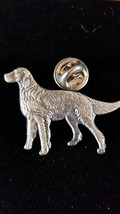 standing dog pin badge english pewter lapel Badge / tie pin,