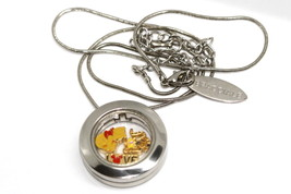 Bracciale Disney Locket Round Silver Necklace Winnie The Pooh Floating Charms - $24.74