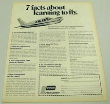 1970 Print Ad Piper Airplane in Flight Facts About Learning to Fly - $11.45