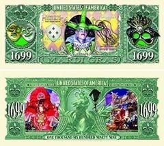 "25 Mardi Gras Million Dollar Bills with Bonus ""Thanks a Million"" Gift Ca... - ₨781.31 INR"