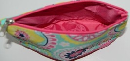 WB M715PIPER Polyester Canvas Piper Cosmetic Bag Hot Pink Bottom Zipper Closure image 2