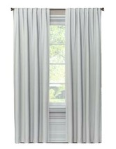Threshold Checkered Gray 99.9% Blackout Curtain Panel - 63 in x 50 in W - $24.18