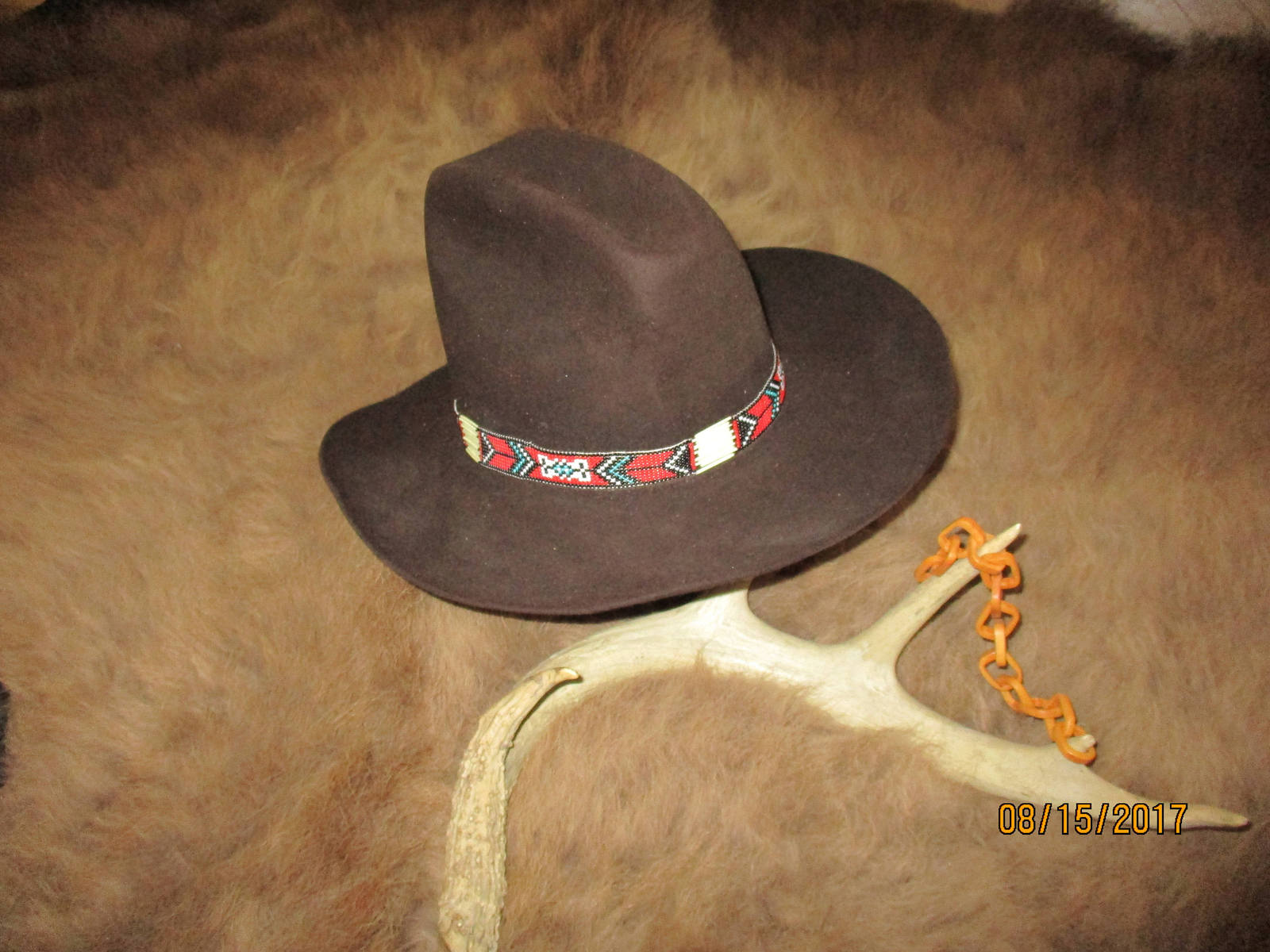 Custom Made Suede Braided Hatbands & Hatbands with Porcupine Quills, Glass Beads