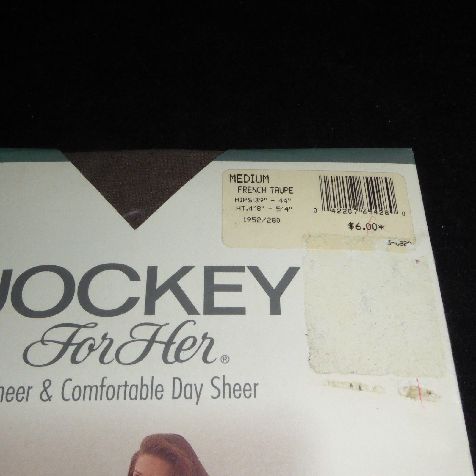 554ae61a11819 NEW JOCKEY Pantyhose Sheer Control Top Style 1952 MEDIUM Size French Taupe