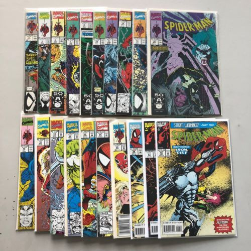 Lot of 20 Spider-Man (1990) from #2-42 VF Very Fine