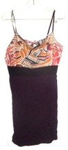 FREE People Orange and Purple Dress with Black Lace Stretch Waistband Sz L  - $37.99
