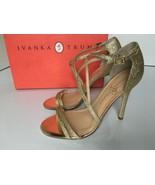 Ivanka Trump Duchess2 Gold Glitter Women's High Heels Strap Sandals - Si... - $67.20