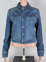 Vintage Tommy Hilfiger Mujer Jean Jacket Vaqueros Botones 2004 TALLA M - $30.42