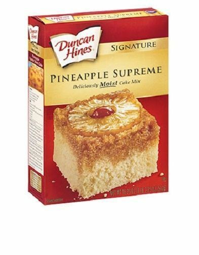 Duncan Hines Signature Pineapple Supreme Cake Mix 18 oz Box