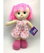 Rag Doll large 15 inch kids ages 3+ pink white flower New - $14.39