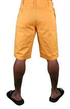 Hawke & Dumar Tab Detail Twill Rustic Orange Walk Summer Shorts HD1250503 NWT image 5